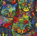 Flannel - Paint Splatter Cats