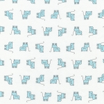 Fat Quarter - Flannel - Penned Pals - Blue