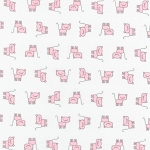 Fat Quarter - Flannel - Penned Pals - Pink