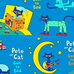End of Bolt Piece - Flannel - Pete the Cat - Bedtime - 15