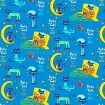 End of Bolt Piece - Flannel - Pete the Cat - Bedtime - 10.5