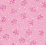 End of Bolt Piece - Flannel - Swirls - Pink - 22