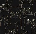 End of Bolt Piece - Full Moon - Cats - Black/Gold - 13