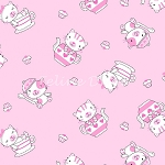 Fat Quarter - Fun & Games - Teacup Kittens - Pink