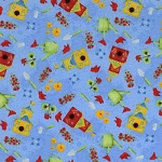 Fat Quarter - Garden Frolic - Toss - Blue