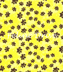 Fat Quarter - Garden Frolic - Paw Prints - Yellow