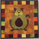 Pattern - Garden Patch Cats - Avocato - Block 1