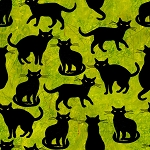 End of Bolt Piece - Ghost Party - Black Cats - Green - 11