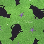 Fat Quarter - Ghouls Night Out - Green