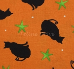 Fat Quarter - Ghouls Night Out - Orange