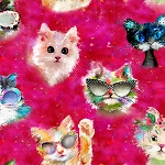 Good Kitty - Cat Faces - Pink