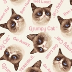 Flannel - Grumpy Cat - Cat Toss - Cream