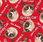 End of Bolt Piece - Grumpy Cat - Cat Toss - Red - 5
