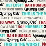 Flannel - Grumpy Cat - Cat Words - Cream