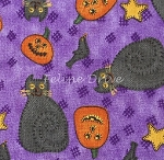 Fat Quarter - Halloween Toss - Purple