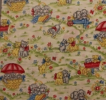 Fat Quarter - Happy Days - Kitten & Puppy Scenic
