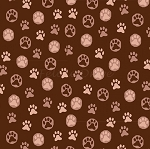 Hats for Cats - Paw Prints - Brown