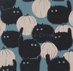 Fat Quarter - Haunted House - Belinda's Big Kitty - Stone