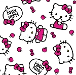End of Bolt Piece - Hello Kitty - Toss - White - 10.5
