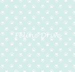 Here Kitty Kitty Organic - Tiny Paw Prints - Blue