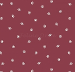 End of Bolt Piece - Hey Mister - Paw Prints - Burgundy - 13.5