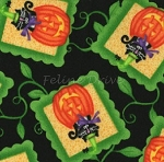 End of Bolt Piece - Hocus Pocus - Cats in Pumpkins - Black - 30