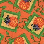 End of Bolt Piece - Hocus Pocus - Cats in Pumpkins - Orange - 27