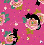 End of Bolt Piece - Hyakka Ryoran Neko 4 - Cats & Roses - Pink - 16