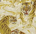 Hyakka Ryoran Tora - Large Tigers - Cream