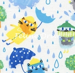 Fat Quarter - It's Raining Cats
