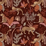 Magic of Serengeti - Leopard - Deep Plum
