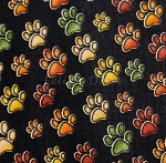 Fat Quarter - Jungleland - Big Cat Paws - Black