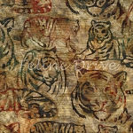 Fat Quarter - Artisan Batik - Kalahari 6 - Tigers - Adventure