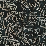 End of Bolt Piece - Artisan Batik - Kalahari 6 - Tigers - Ebony - 30