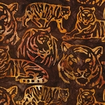 End of Bolt Piece - Artisan Batik - Kalahari 6 - Tigers - Wild - 13.5