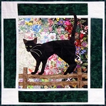 "Watercolor Kit - Rachel's Cat Garden - Block 9 - Oriental Shorthair ""Shadow"""