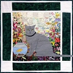 Watercolor Kit - Rachel's Cat Garden - Block 11 - Russian Blue