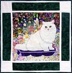 "Watercolor Kit - Rachel's Cat Garden - Block 5 - Chinchilla Persian ""Max"""