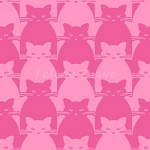 Kitty Kitty - Tonal Cat - Pink