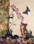 Pattern - Cat and Butterfly