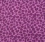 Fat Quarter - Flannel - Leopard Spots - Purple