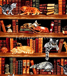 Fat Quarter - Library Cats