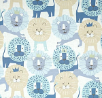 Fat Quarter - Little Lion - Baby Blue