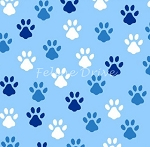 Fat Quarter - Love is a Four Legged Word - Paws - Blue