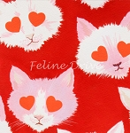 Fat Quarter - Lovestruck - Red