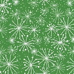 Fat Quarter - Make Merry - Snowflakes - Green
