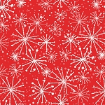 Fat Quarter - Make Merry - Snowflakes - Red