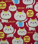 Flannel - Maneki Meow - Red