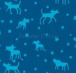 Fat Quarter - Me & You - Bluebird - BATIK