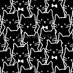 End of Bolt Piece - Meow (Camelot) - Cat Cluster - Black - 7.5